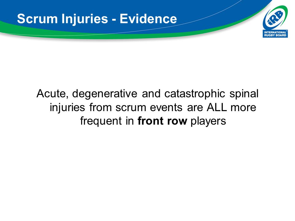 Scrum Injuries - Evidence