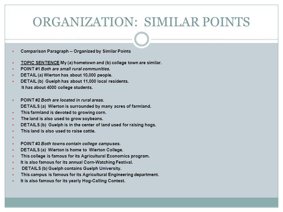 ORGANIZATION: SIMILAR POINTS