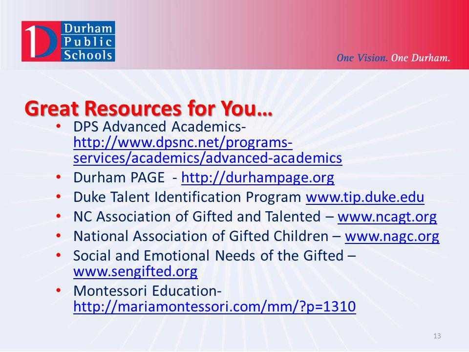 Great Resources for You…