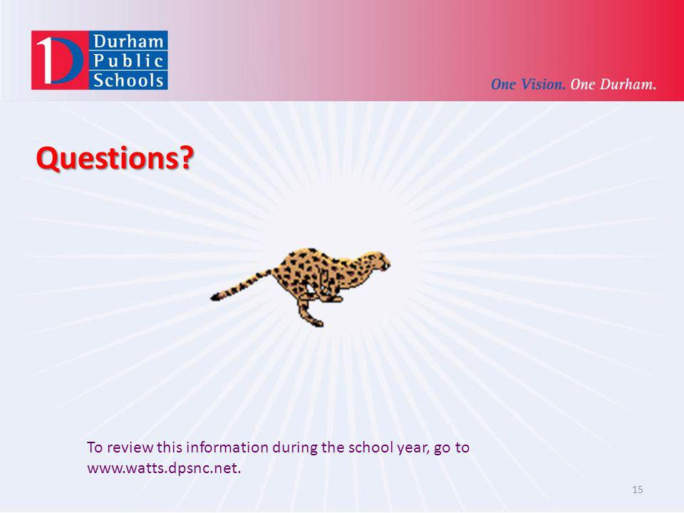 Questions. Put your school website and be sure to post it.