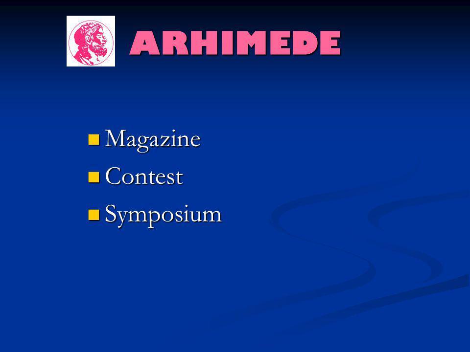 ARHIMEDE Magazine Contest Symposium