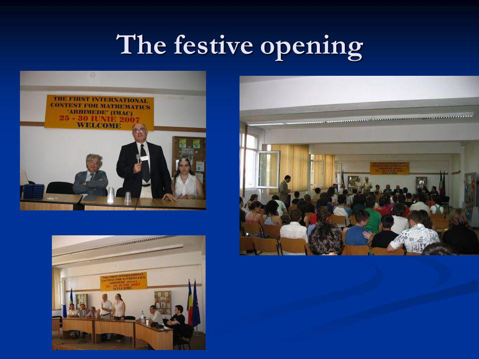 The festive opening