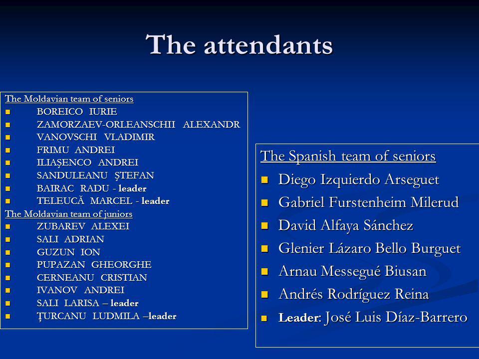 The attendants The Spanish team of seniors Diego Izquierdo Arseguet