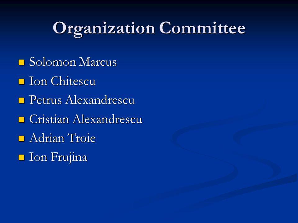 Organization Committee