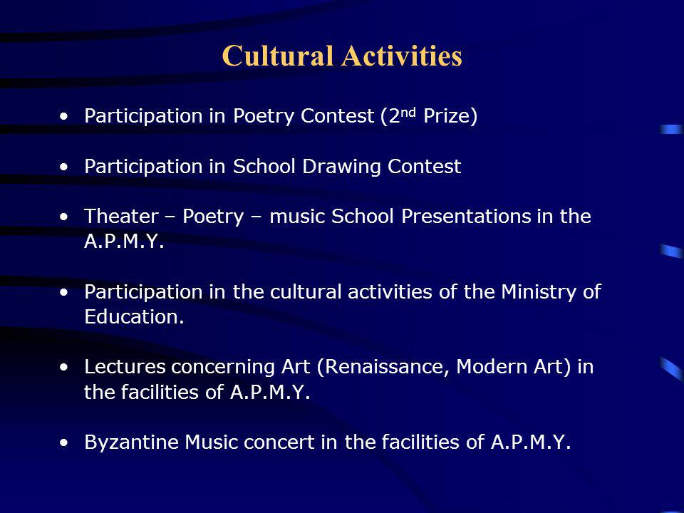 Cultural Activities Participation in Poetry Contest (2nd Prize)