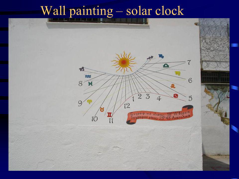 Wall painting – solar clock