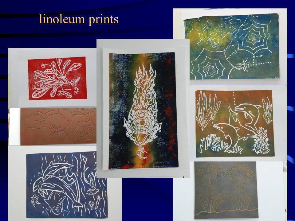 linoleum prints