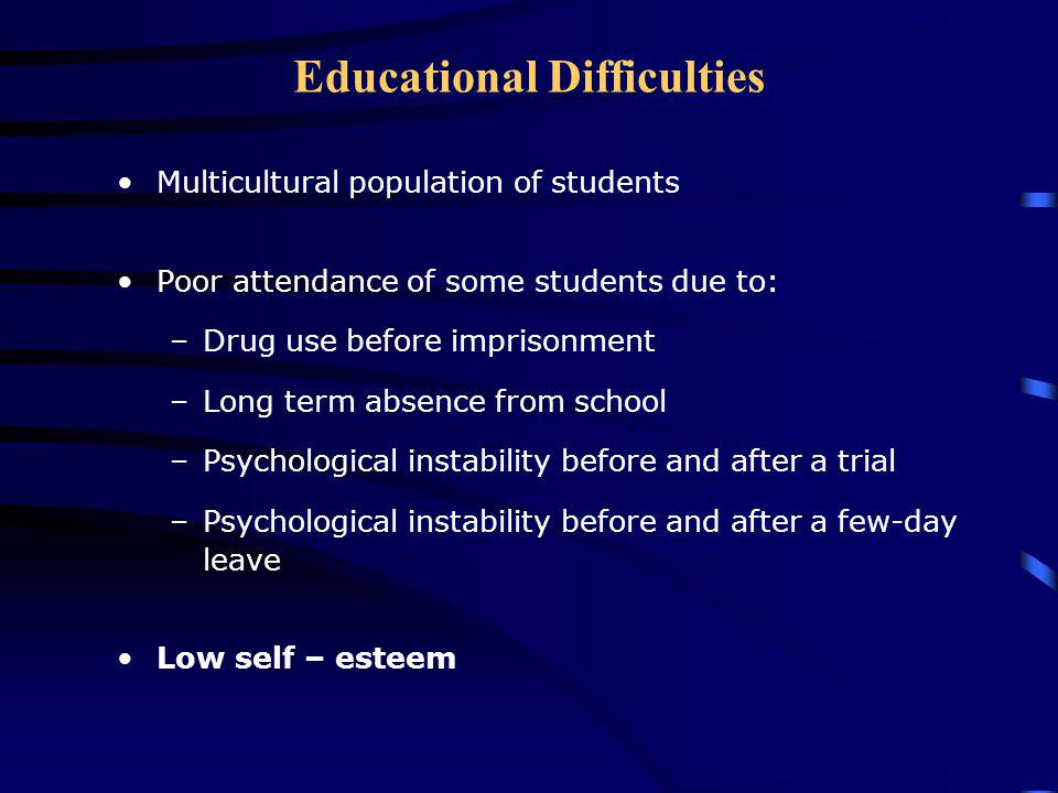 Educational Difficulties