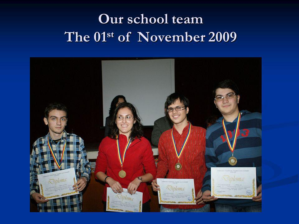 Our school team The 01st of November 2009