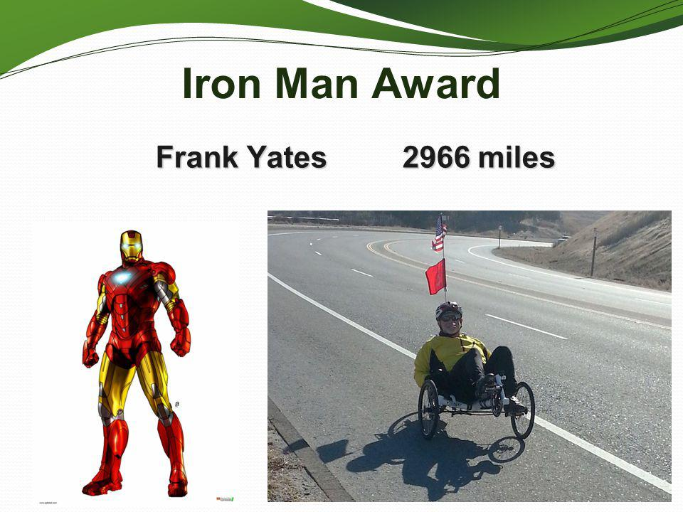 Iron Man Award Frank Yates 2966 miles