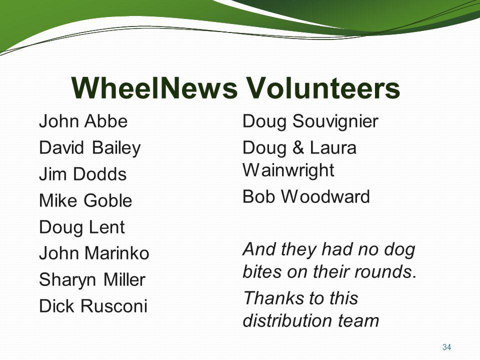 WheelNews Volunteers