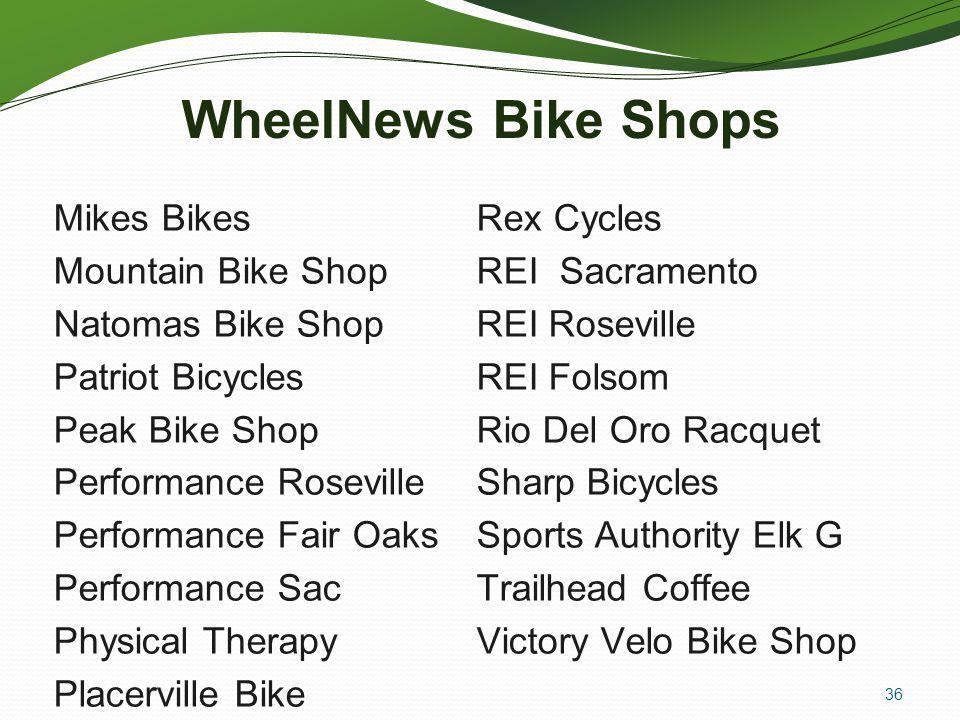 WheelNews Bike Shops