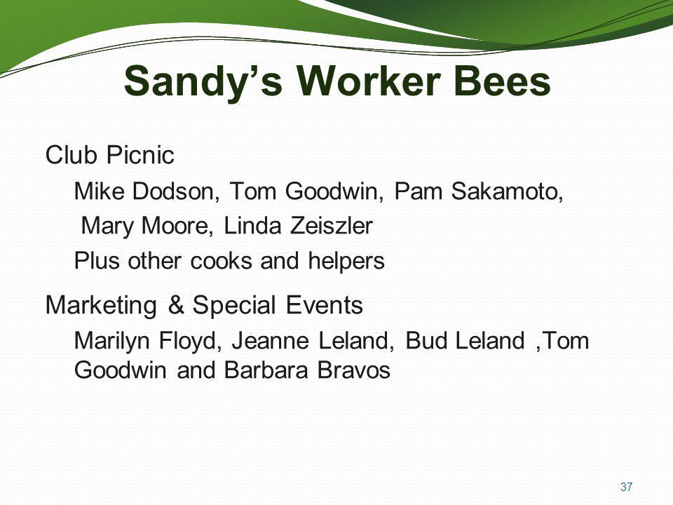 Sandy's Worker Bees Club Picnic Marketing & Special Events