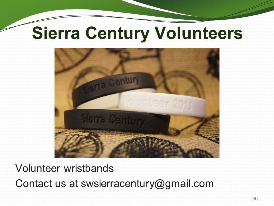 Sierra Century Volunteers