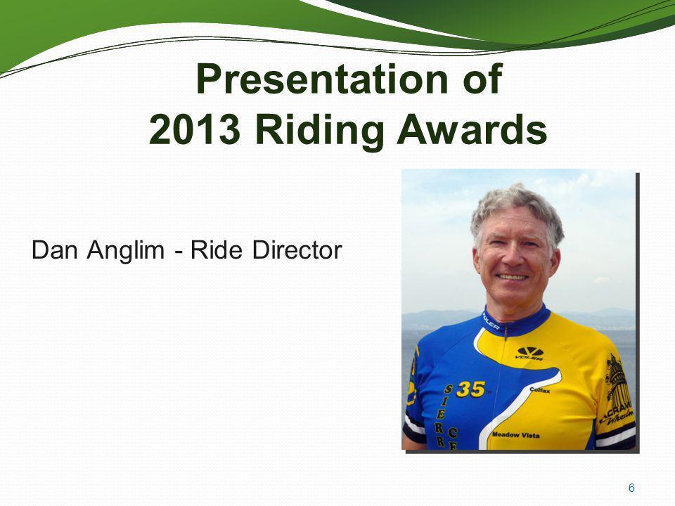 Presentation of 2013 Riding Awards