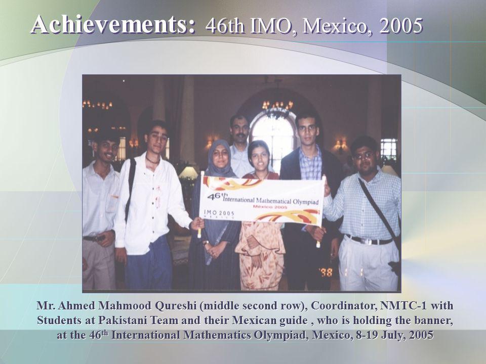 Achievements: 46th IMO, Mexico, 2005