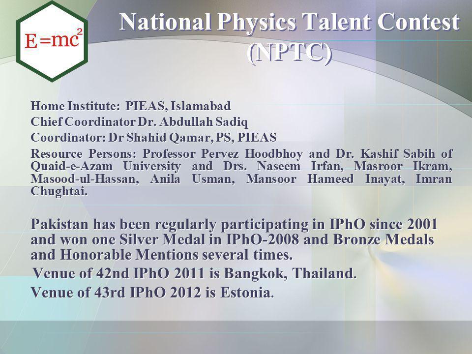 National Physics Talent Contest (NPTC)