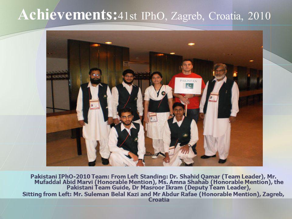 Achievements:41st IPhO, Zagreb, Croatia, 2010