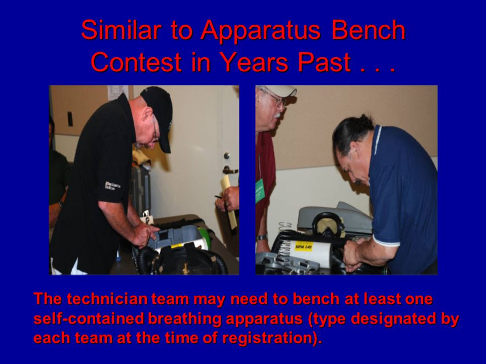 Similar to Apparatus Bench Contest in Years Past . . .