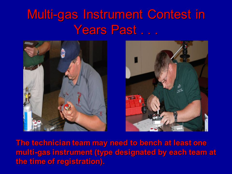 Multi-gas Instrument Contest in Years Past . . .