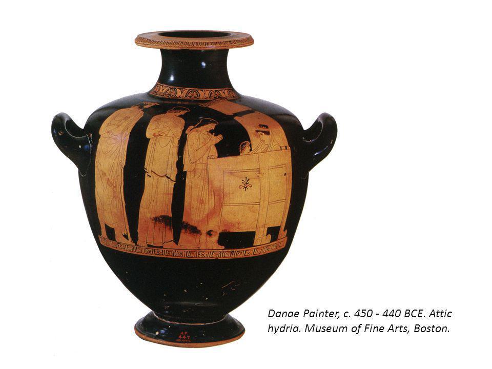 Danae Painter, c. 450 - 440 BCE. Attic hydria