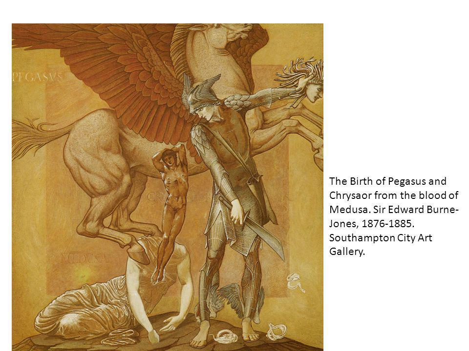 The Birth of Pegasus and Chrysaor from the blood of Medusa