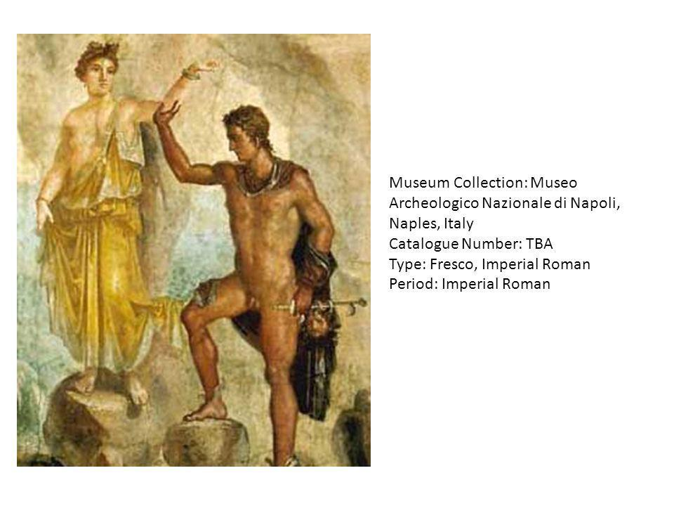 Museum Collection: Museo Archeologico Nazionale di Napoli, Naples, Italy Catalogue Number: TBA Type: Fresco, Imperial Roman Period: Imperial Roman