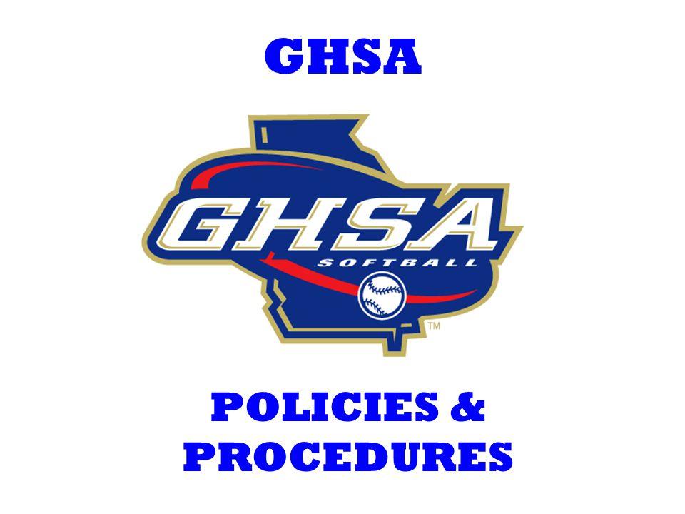 GHSA POLICIES & PROCEDURES