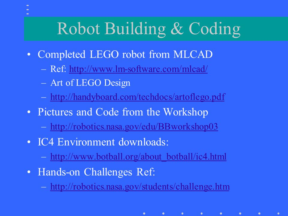 Robot Building & Coding