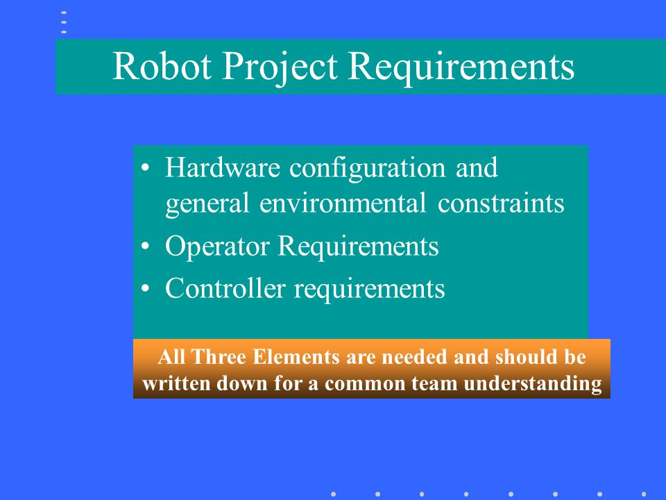 Robot Project Requirements