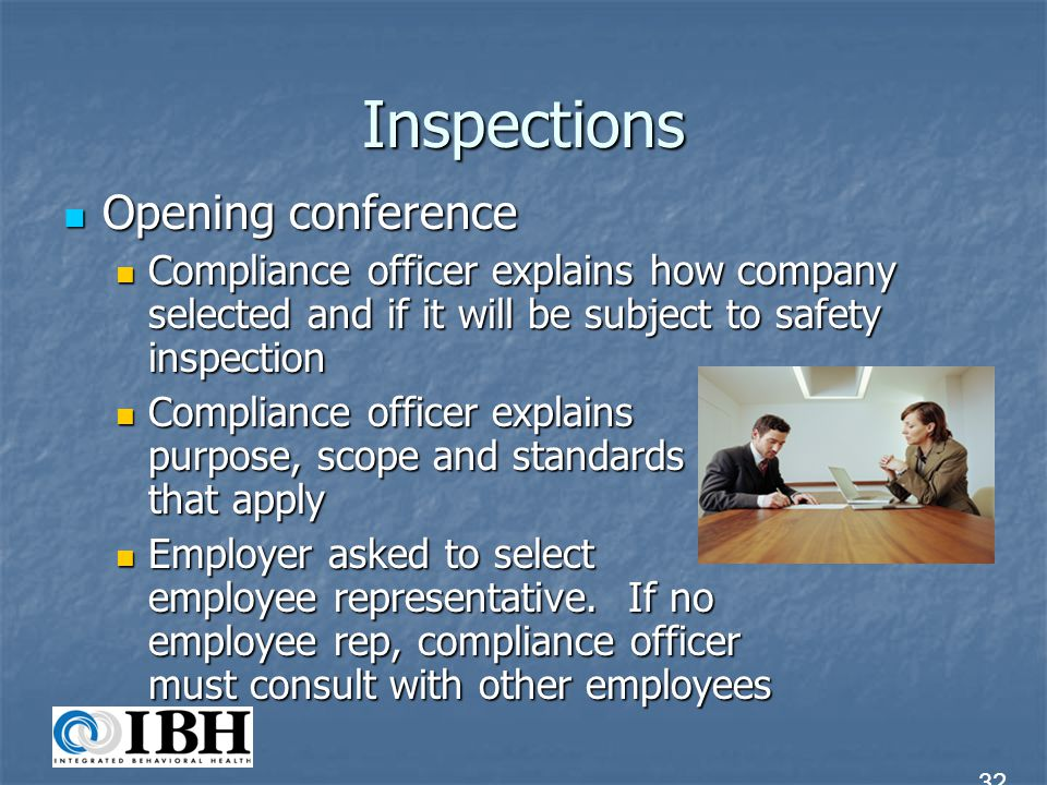 Inspections Opening conference