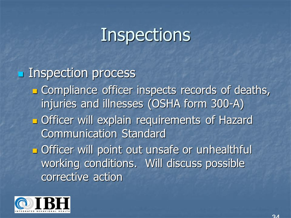 Inspections Inspection process