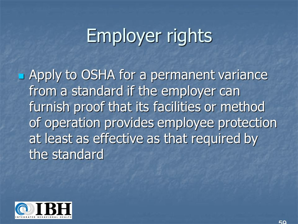 Employer rights