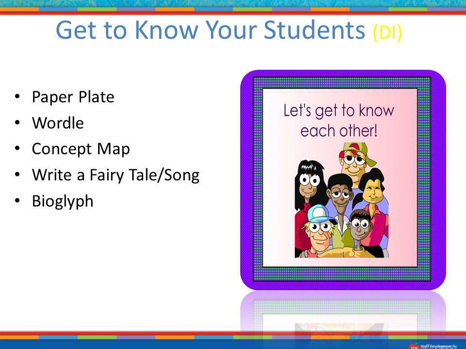 Get to Know Your Students (DI)