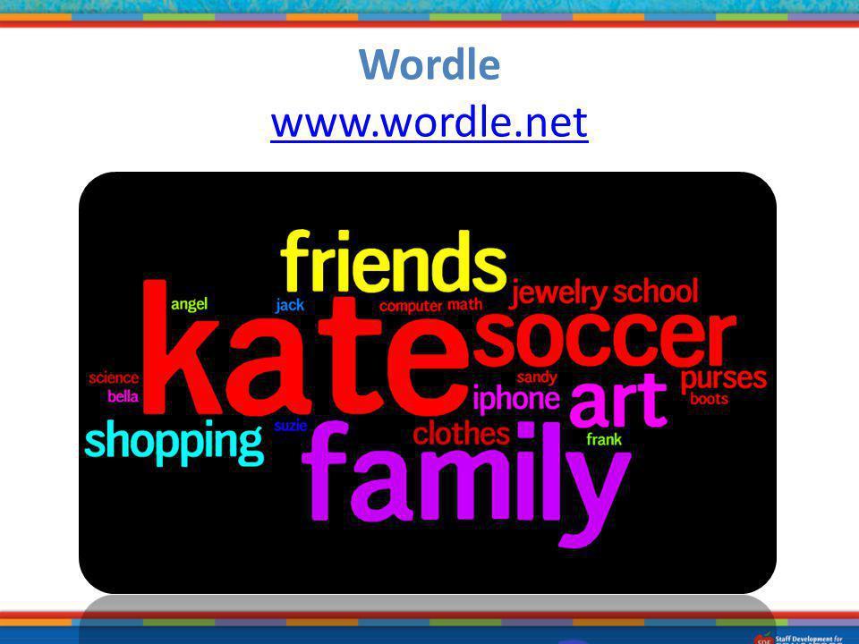 Wordle www.wordle.net
