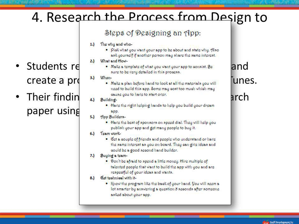 4. Research the Process from Design to Production