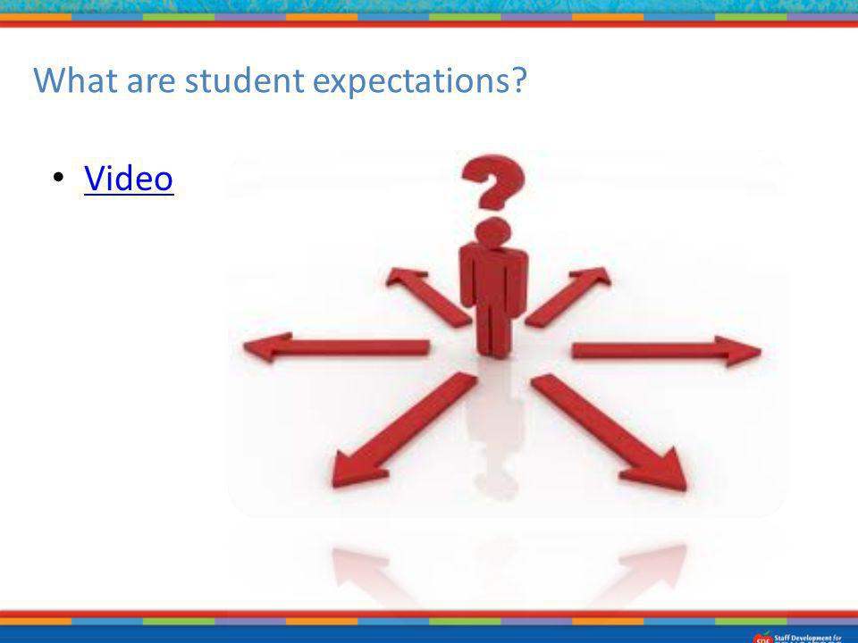 What are student expectations