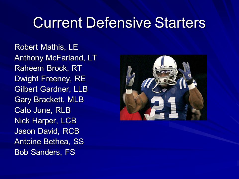 Current Defensive Starters