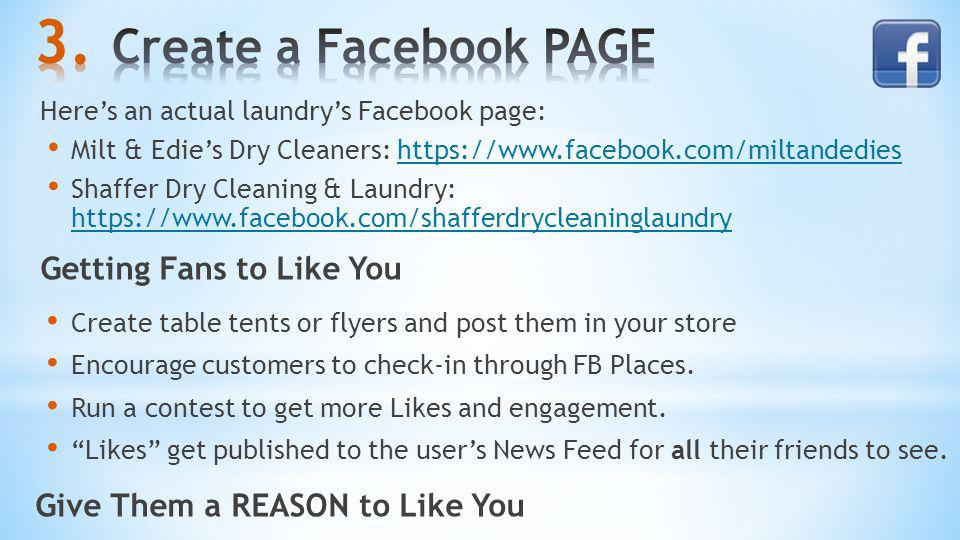 Create a Facebook PAGE Getting Fans to Like You