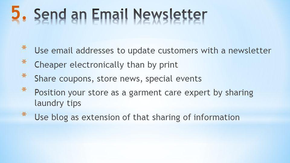 Send an Email Newsletter