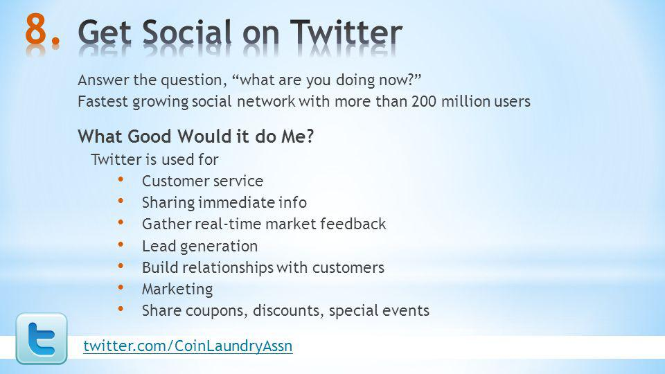 Get Social on Twitter What Good Would it do Me
