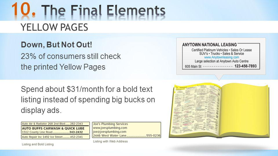 The Final Elements Yellow Pages