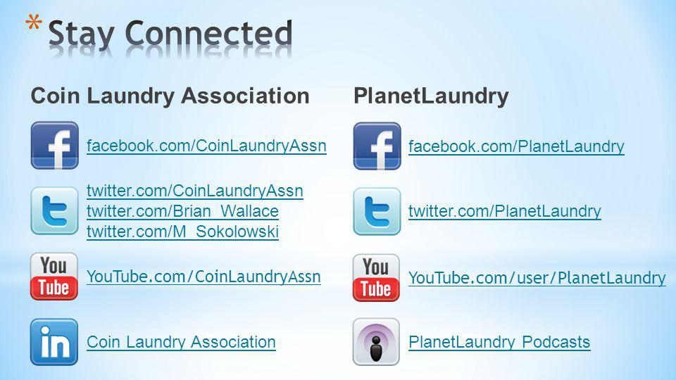 Stay Connected Coin Laundry Association PlanetLaundry