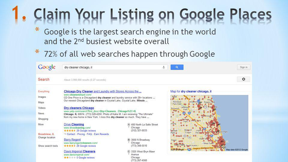 Claim Your Listing on Google Places