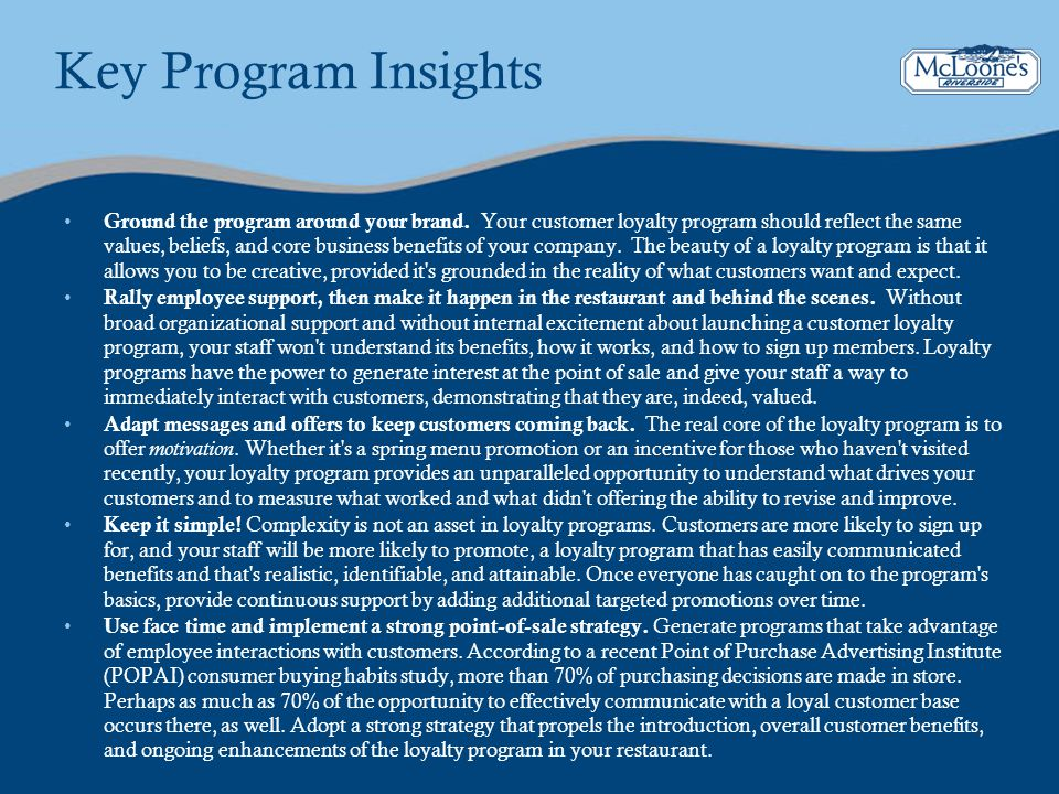 Key Program Insights