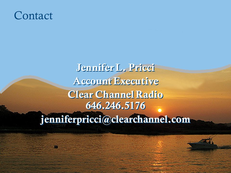 Contact Jennifer L. Pricci Account Executive