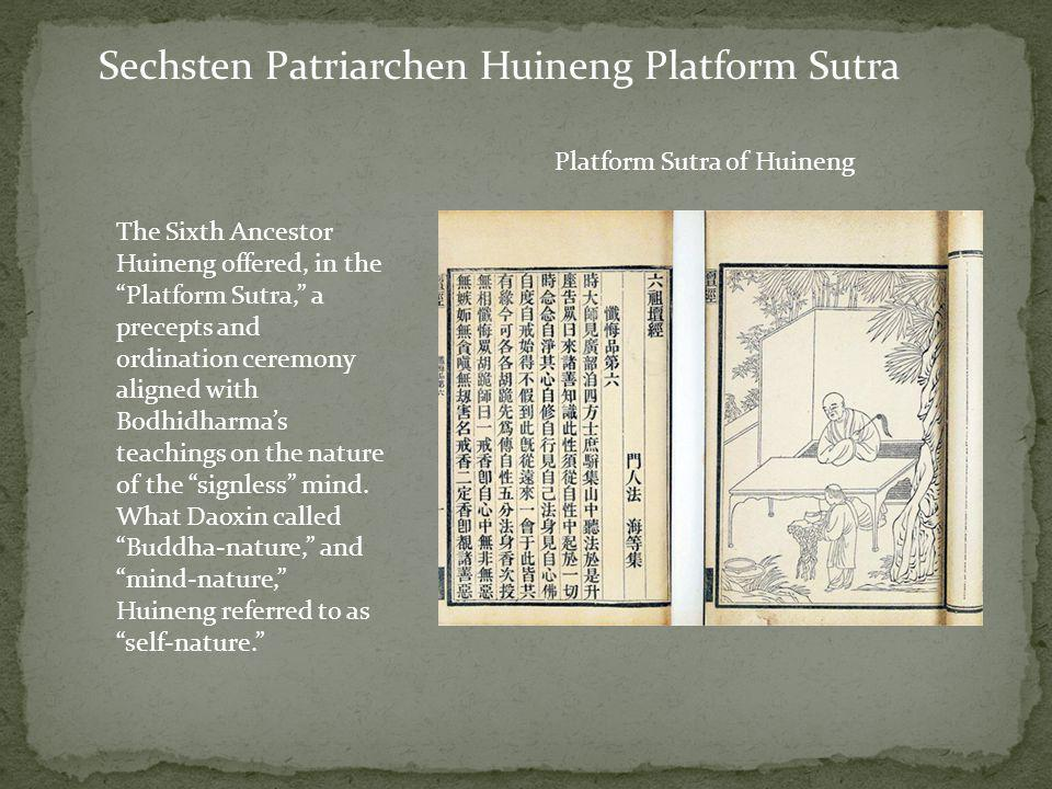 Sechsten Patriarchen Huineng Platform Sutra