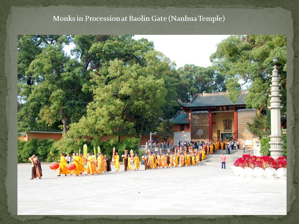 Monks in Procession at Baolin Gate (Nanhua Temple)