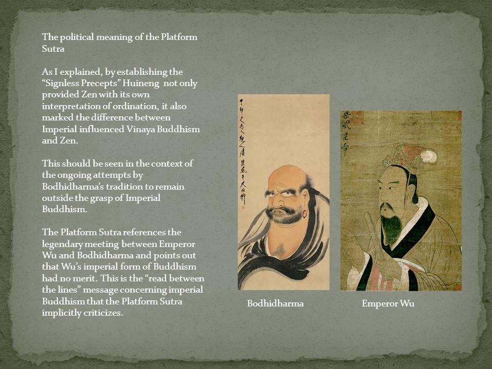 The political meaning of the Platform Sutra