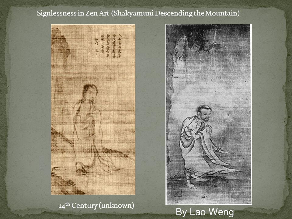 Signlessness in Zen Art (Shakyamuni Descending the Mountain)